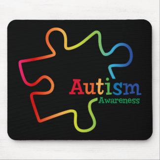 Cojín de ratón de la conciencia del autismo de la tapete de ratones