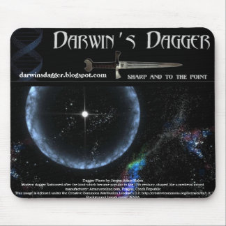 Cojín de ratón de la daga de Darwin Mousepad