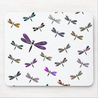 Cojín de ratón de la danza de la libélula tapetes de raton