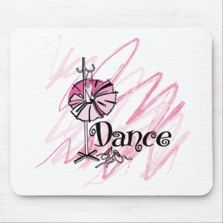 Cojín de ratón de la danza - rosa mouse pad