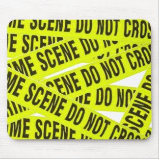 Cojín de ratón de la escena del crimen tapetes de ratones