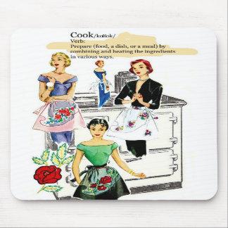 Cojín de ratón de la estufa de cocina del vintage tapete de ratón