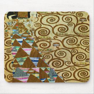 Cojín de ratón de la expectativa de Gustavo Klimt Alfombrillas De Ratones