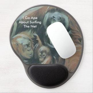 Cojín de ratón de la familia del mono alfombrilla gel