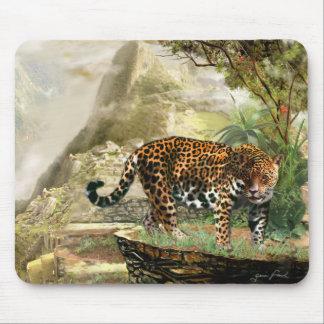 Cojín de ratón de la fauna Jaguar y Machu Picchu Tapetes De Ratón