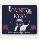 Cojín de ratón de la firma de Romney-Ryan Tapete De Ratones