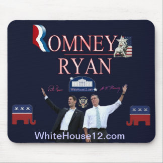 Cojín de ratón de la firma de Romney-Ryan Alfombrilla De Raton