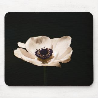 Cojín de ratón de la flor blanca alfombrillas de ratones