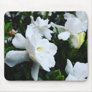 Cojín de ratón de la flor blanca mousepad