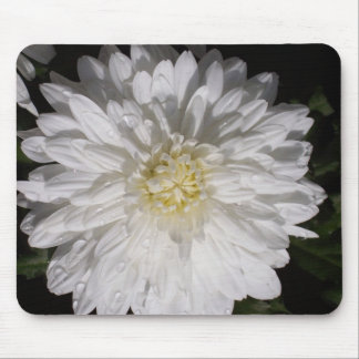 Cojín de ratón de la flor blanca tapete de raton