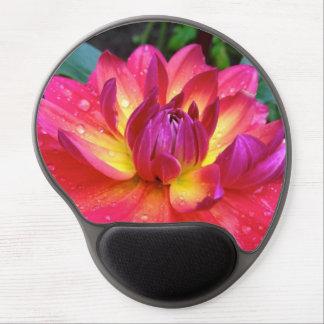 Cojín de ratón de la flor de la dalia de las rosas alfombrillas con gel