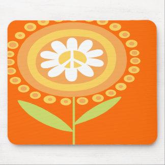 Cojín de ratón de la flor de la paz tapetes de ratón