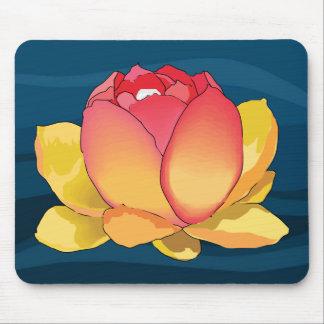 Cojín de ratón de la flor de Lotus sagrado II Alfombrilla De Ratones