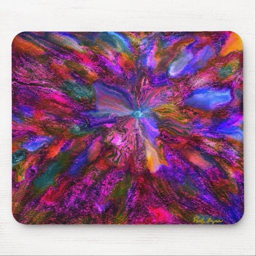 Cojín de ratón de la flor del arco iris tapetes de raton