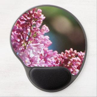Cojín de ratón de la floración de la lila alfombrilla gel