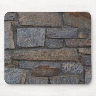 Cojín de ratón de la foto de la pared de piedra alfombrillas de ratones
