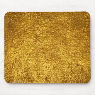 Cojín de ratón de la hoja de oro alfombrillas de raton
