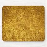 Cojín de ratón de la hoja de oro tapetes de raton