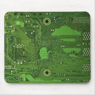 Cojín de ratón de la impresión del VERDE de la Tapetes De Ratón