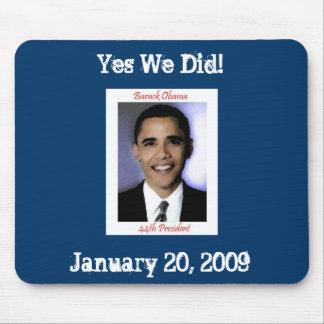 Cojín de ratón de la inauguración de Obama Mousepads