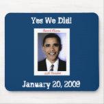 Cojín de ratón de la inauguración de Obama Tapete De Raton