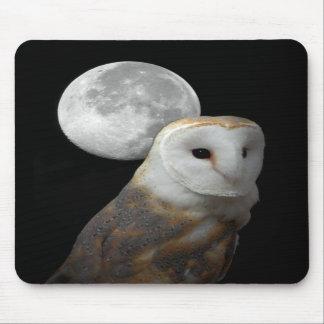 Cojín de ratón de la lechuza común y de la Luna Ll Tapete De Ratones