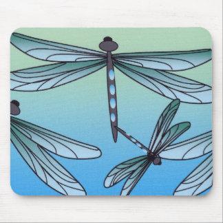 Cojín de ratón de la libélula del art déco tapete de ratón