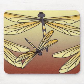 Cojín de ratón de la libélula del art déco mousepads