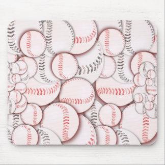 Cojín de ratón de la locura del béisbol tapetes de raton