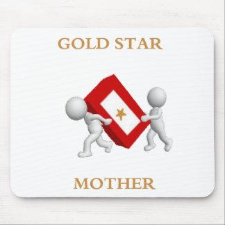 Cojín de ratón de la madre de estrella de oro tapetes de ratón