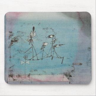 Cojín de ratón de la máquina de Paul Klee Twitteri Tapete De Ratones