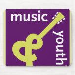 Cojín de ratón de la música y de la juventud alfombrillas de raton