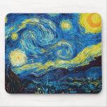 Cojín de ratón de la noche estrellada de Van Gogh Alfombrillas De Ratones