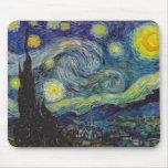 Cojín de ratón de la noche estrellada de Van Gogh Mousepad