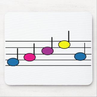 Cojín de ratón de la nota de la música alfombrilla de ratones