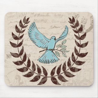 Cojín de ratón de la paz de la paloma del azul tapete de ratones