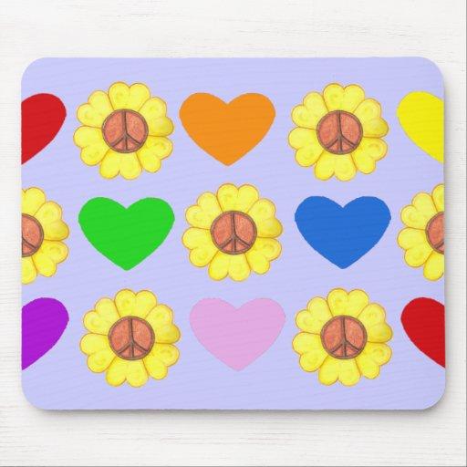 Cojín de ratón de la paz del arco iris mouse pad