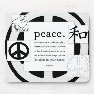Cojín de ratón de la paz tapete de ratón