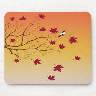 Cojín de ratón de la perca del otoño tapetes de raton