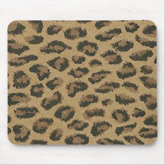 Cojín de ratón de la piel del leopardo alfombrillas de ratones