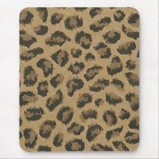 Cojín de ratón de la piel del leopardo tapetes de ratón