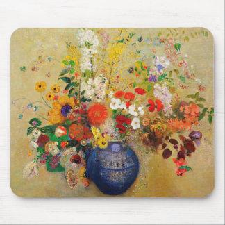 Cojín de ratón de la pintura de la flor del vintag alfombrilla de raton