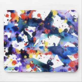 Cojín de ratón de la pintura de la salpicadura tapete de ratones