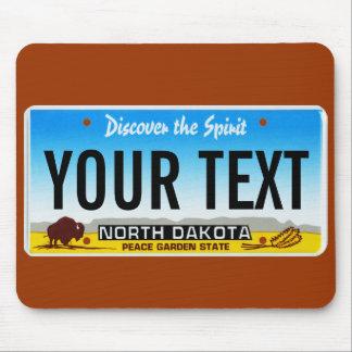 Cojín de ratón de la placa de Dakota del Norte Tapete De Ratones