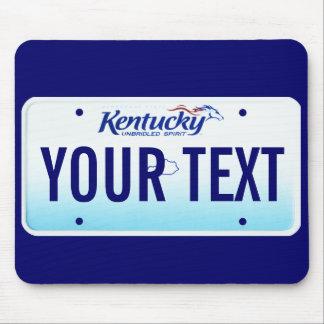 Cojín de ratón de la placa de Kentucky Tapetes De Ratón
