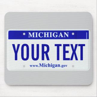 Cojín de ratón de la placa de Michigan Alfombrilla De Ratones
