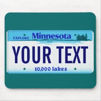 Cojín de ratón de la placa de Minnesota Tapetes De Ratón