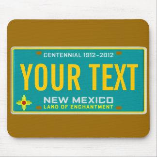 Cojín de ratón de la placa de New México Tapetes De Raton