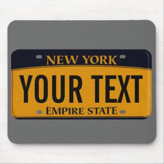 Cojín de ratón de la placa de Nueva York Alfombrillas De Ratón