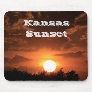 COJÍN de RATÓN de la puesta del sol de Kansas Tapete De Ratón
